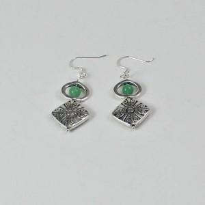 Green Aventurine Drop Earrings