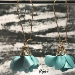 The Aubrey | handmade floral pouf dangle earrings, gold kidney ear wires, flower earrings, rose earrings, Gifts for Her