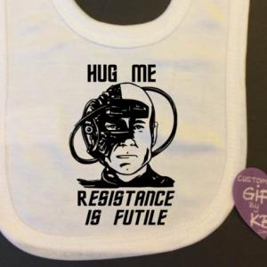 Borg Star Trek Resistance is futile Baby Bib