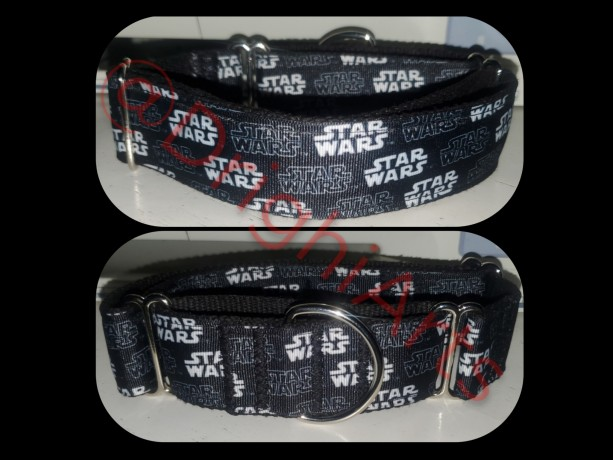 "Star Wars - 1.5"" Martingale Dog Collar - Heavy Duty - Slip on"