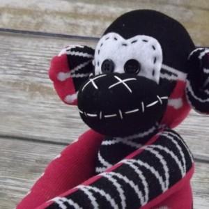 Sock monkey : Elisa ~ The original handmade plush animal made by Chiki Monkeys