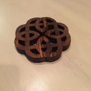 Rustic Celtic knot trivet, Wooden Trivet, Potholder, Wooden hot mat