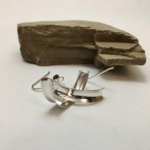 Silver Anticlastic Earrings—Small