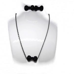Black Bow Set