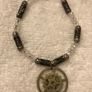 Shifting Gears handmade beaded bracelet