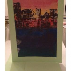 City Scene Card Blank Inside