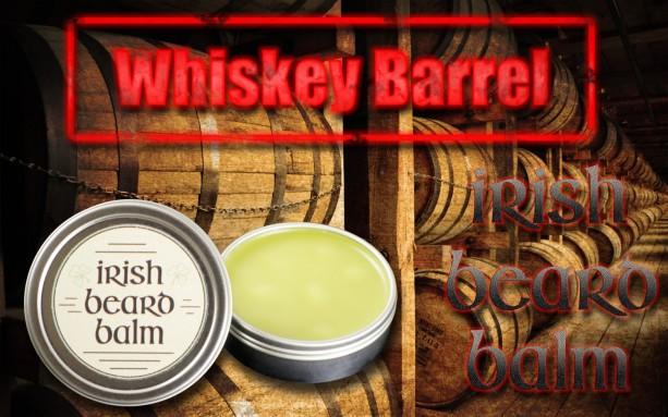 Irish beard balm Whiskey barrel  2 ounce tin