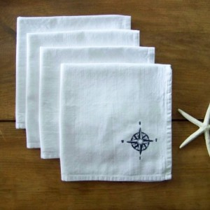 Set of 4 Compass Rose Napkins