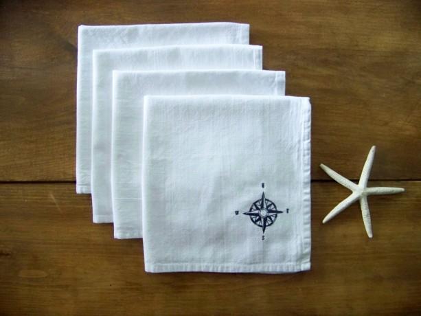 Set of 4 Compass Rose Napkins