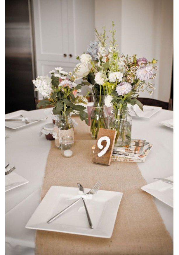 90 x 12 inch burlap table runners fit 5ft round tables for 12 ft table runner