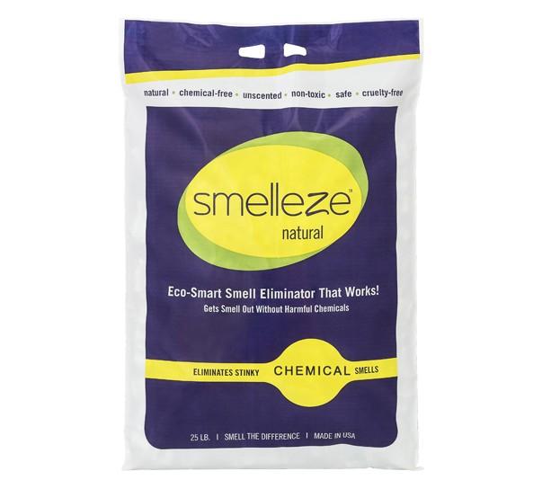 SMELLEZE Natural Chemical Odor Remover Granules: 25 lb. Bag Sprinkle on Odor