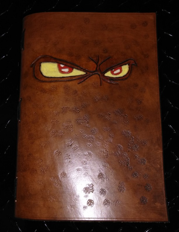Leather Bound Sketch Book (Eyes), Ready to ship