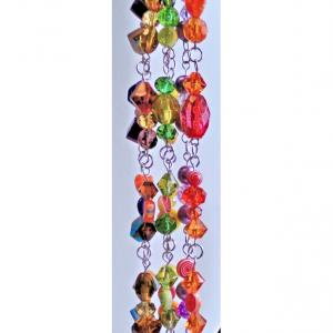 Multi Color Bead Purse Charm