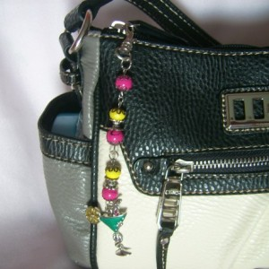 Pink and Yellow Dangle Handbag Charm