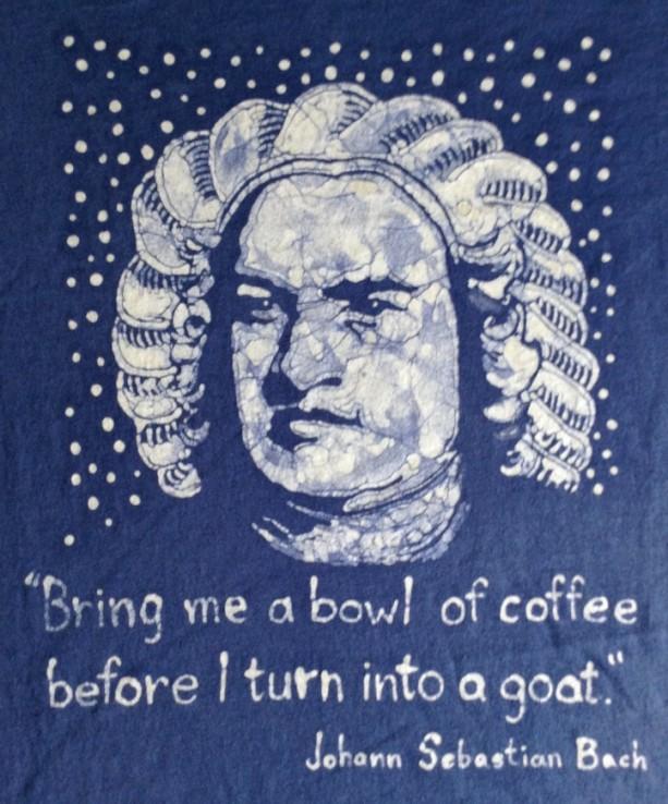 Bach Quote Custom Batik Tshirt