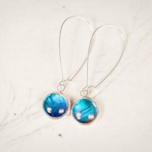 Real Butterfly Jewelry - Real Butterfly Earrings - Blue Morpho Butterfly Jewelry - Simple Dangle Earrings - Silver - Bronze - Drop Earrings