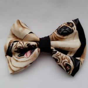 Pug pet bow tie