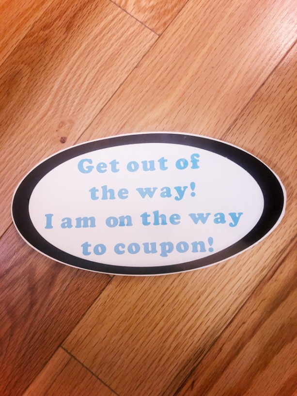 Couponing Bumper Sticker!