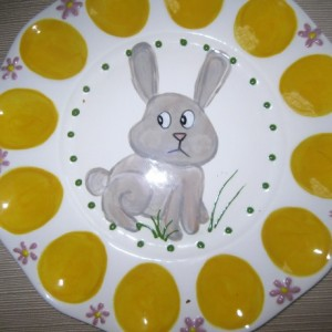 Hand painted Easter Deviled Egg Platter