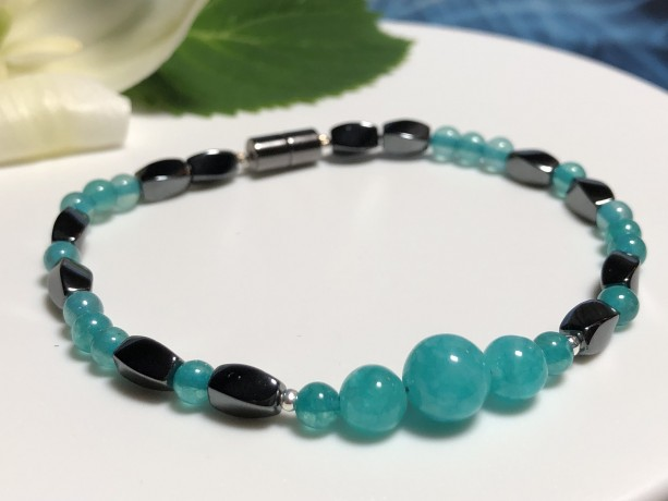 Courage Bracelet  |  Truth |  Luck  |  Opportunity  |  Business  | Calm  |  Focus  |  Emotional Healer  |  Amazonite | Magnetic