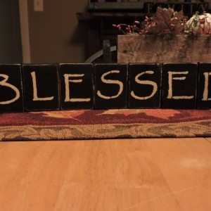 BLESSED (Small) Black Wood Display Blocks