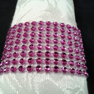 Napkin Rings Fuchsia Bling Rhinestone Crystal Elegant Party or  Wedding Napkin Rings 25 Pc Lot