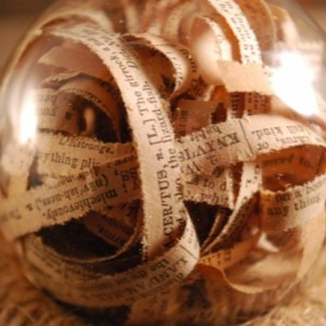 Dictionary Ornament, Dictionary Ball, Teacher Gift, Decorative Ornament, Decorative Ball, Antique Dictionary, Vase Filler, Nerd Gift, Bowl