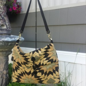 Gold and Black OoaK Tapestry/Carpet Shoulder bag