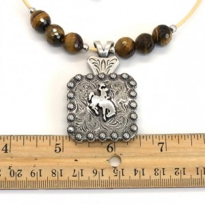 Western Bucking Bronc Concho Necklace