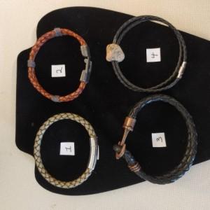 Men's assortment of bracelets