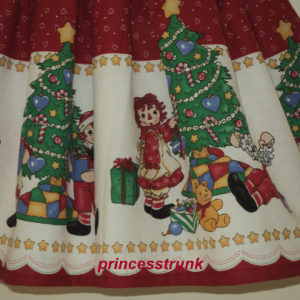 NEW Handmade Daisy Kingdom Raggedy Ann/Andy Christmas Dress Deluxe Custom Sz 12M-14Yrs