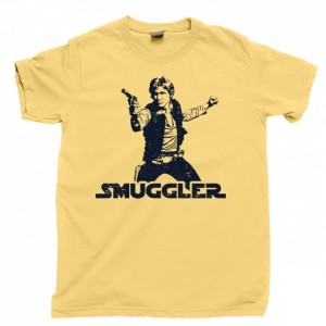 Han Solo Men's T Shirt, Smuggler Scoundrel Nerf Herder Chewbacca Millennium Falcon Unisex Cotton Tee Shirt