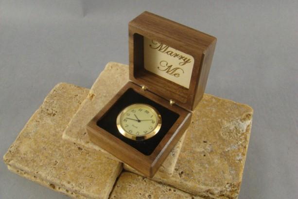 Clock Option for Ring Box