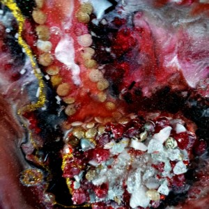 "ECO-Epoxy Resin Geode ""Blood Ruby"""