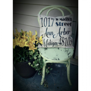 Address Pillow for Front Porch - Curb Appeal Ideas - Farmhouse - Mother's Day Gift - Front Porch Decor - Housewarming Gift - House Number