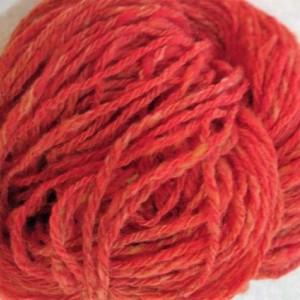 Handspun yarn- hand dyed yarn- art yarn- 200 yds-Orange Merino wool-orange yarn-knitting supplies-crochet-crochet supplies-handspun