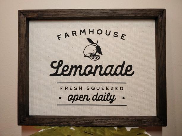 Rustic Sign Decor, Lemonade, Farmhouse