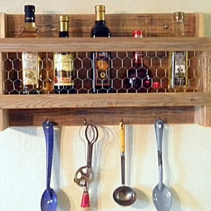 Rustic Country Kitchen Rack