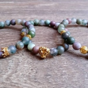 Chakra Healing 3pc Jasper Bracelets