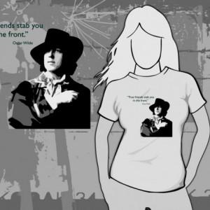 Oscar Wilde - True Friends T-Shirt