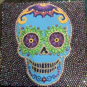 Rhinestone Skull Tile