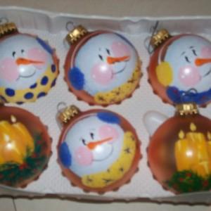 handpainted snowman ornaments