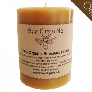 100% Raw Organic Beeswax Pillar Candle 3 Sizes Available
