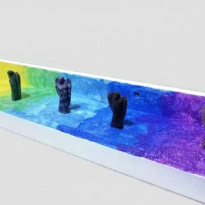 Crystal Chakra Floating Shelf, wall shelf, crystal Angels, crystal shelf, rainbow shelf, chakra crystal, reiki crystal display, single shelf