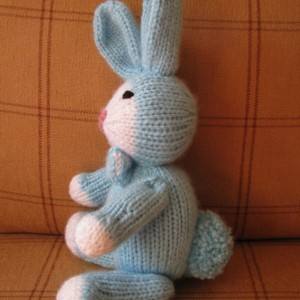 Bunny - knitted  - Blue