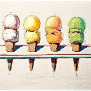 Pink Ice Cream Cone Earrings after Wayne Thiebaud's Painting - Free Shipping!