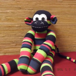Sock monkey: Ronald ~ The original handmade plush animal made by Chiki Monkeys!
