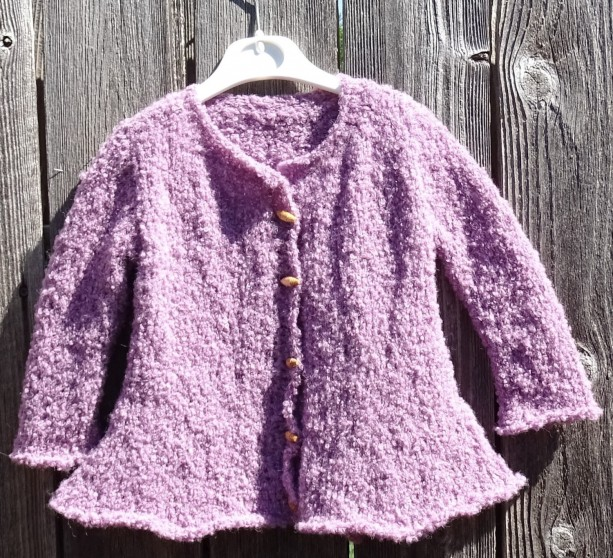 Alpaca Coat, Hand Knitted Coat, Pink Alpaca Boucle Overcoat, Girl Coat, Boucle Fluffy Coat for Little Girl  24 m, Alpaca BoucleReady to Ship