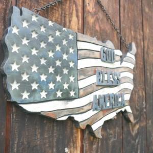 GOD BLESS AMERICA U.S.A  American Flag