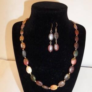 Sand Jasper, Picasso Jasper necklace